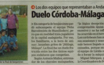 Duelo Córdoba-Málaga en Benajamines